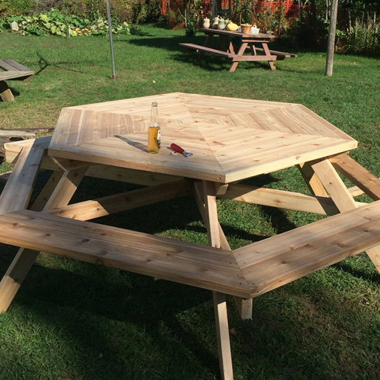 a wood table